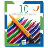 Djeco 10 Felt Brushes (Various Colours)